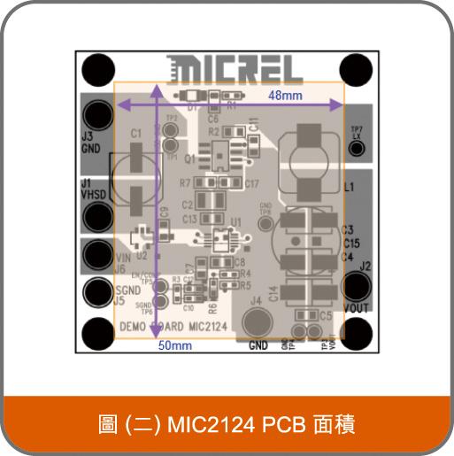 MIC2124 PCB 面積