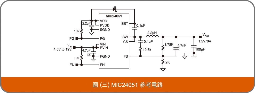 MIC24051 參考電路