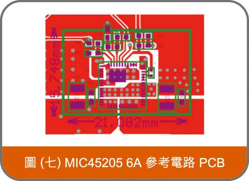 MIC45205 6A 參考電路 PCB
