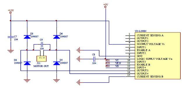 图十一 : ic-l298驱动电路