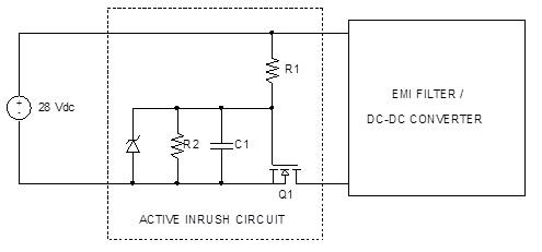 图十一 : 有效限制浪涌电流的串联晶体管离散电
