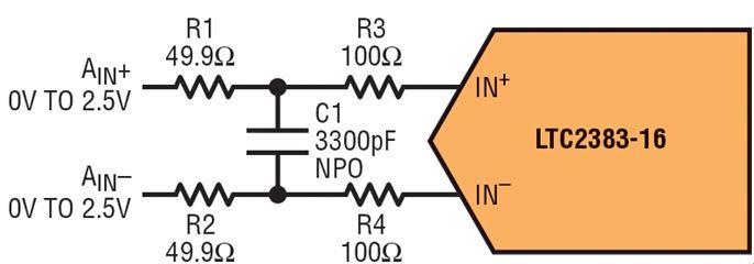 图一: 全差动驱动电路
