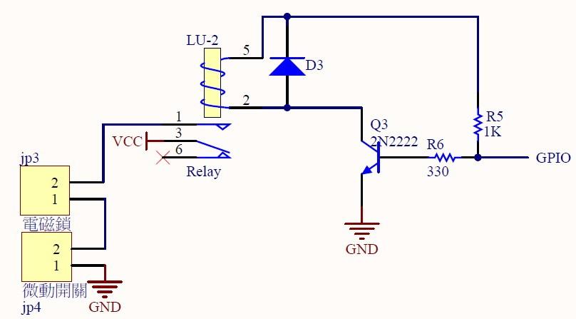 图4 : 烘洗衣机门锁控制电路