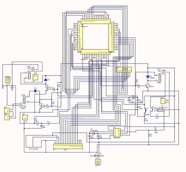 图6 : 自助式烘洗衣机防盗装置整体电路图