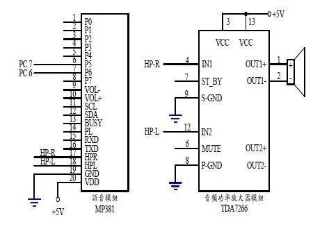 图4 : 语音与音频放大器模组之控制电路