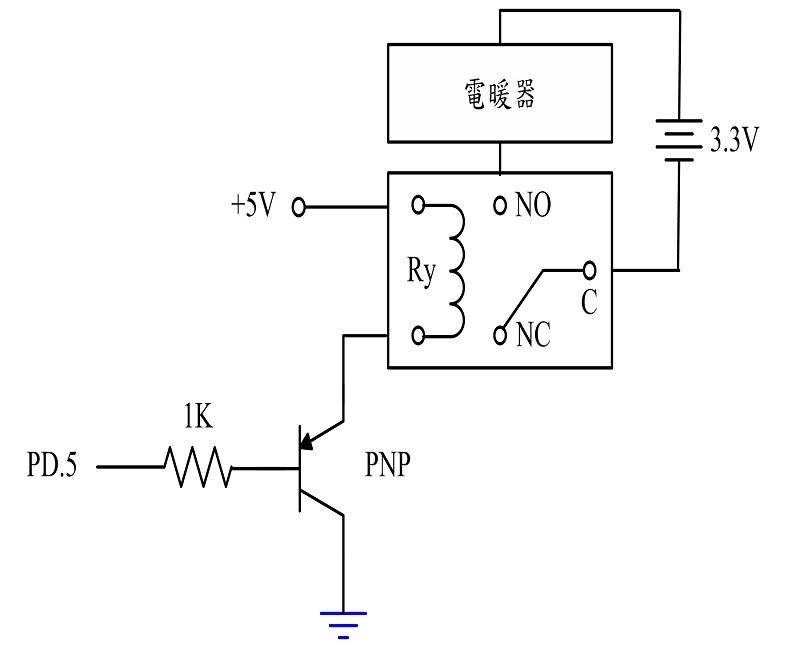 图10 : 电暖器之控制电路图