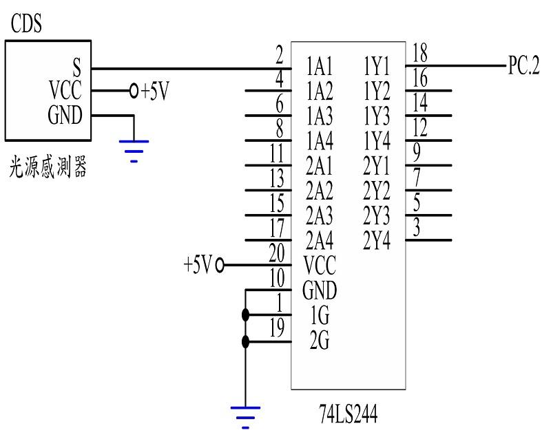 图3 : 光敏感测模组之控制电路图