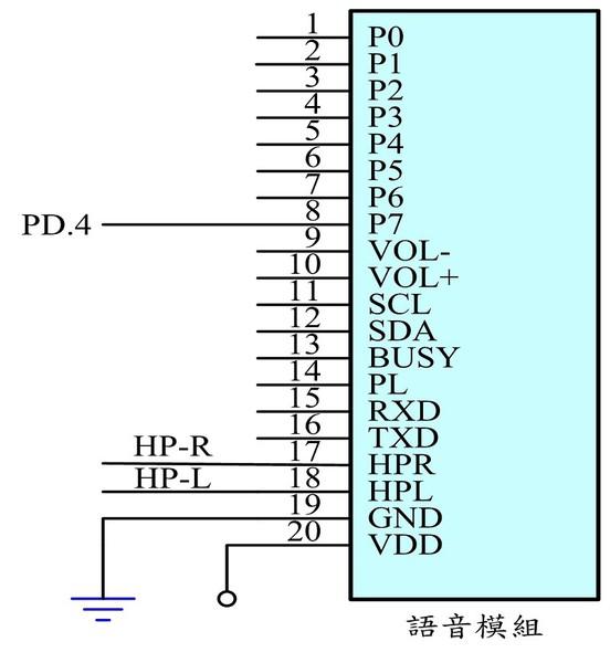 图4 : 语音模组之控制电路图