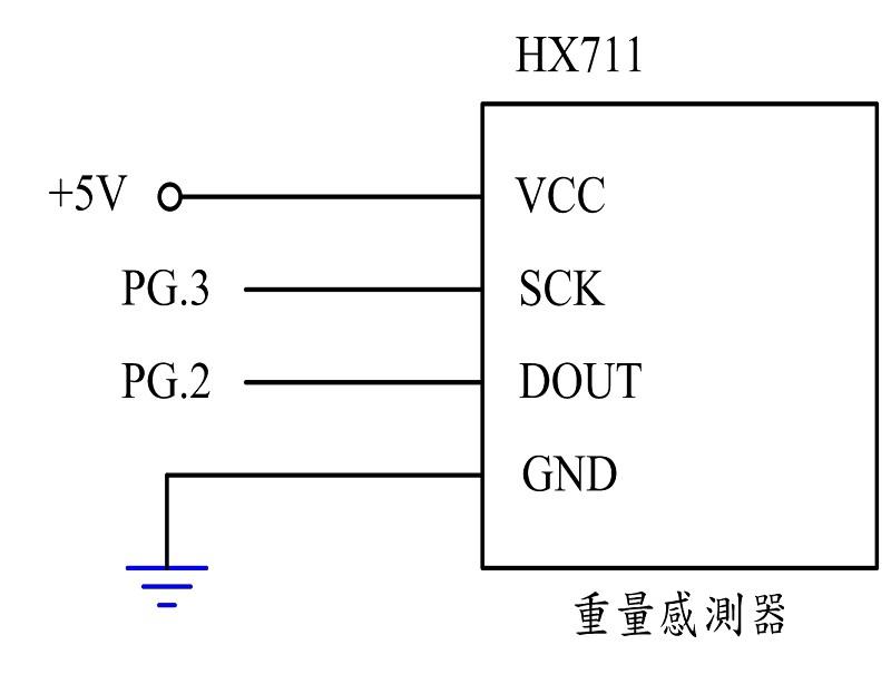 图7 : 重量感测模组之控制电路图