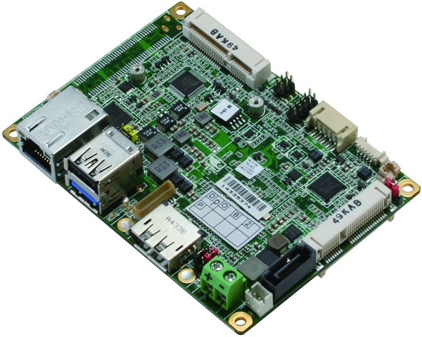 pico-itx产品将soc设计在背面并整合散热板,让系统整合商可快速安装到