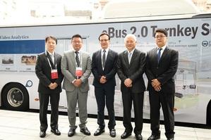 研華與凱勝綠能合作智慧電動巴士,目前已於台中市、桃園市搶先上路。