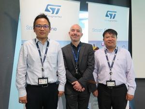 意法半導體亞太區汽車產品事業行銷經理陳錫成(右一)