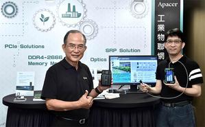 宇瞻科技董事長陳益世(左)與總經理張家騉(右)指出,宇瞻科技二年前即開始積極佈局智慧物聯領域。