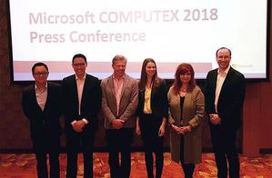 微軟於COMPUTEX中舉辦國際記者會。