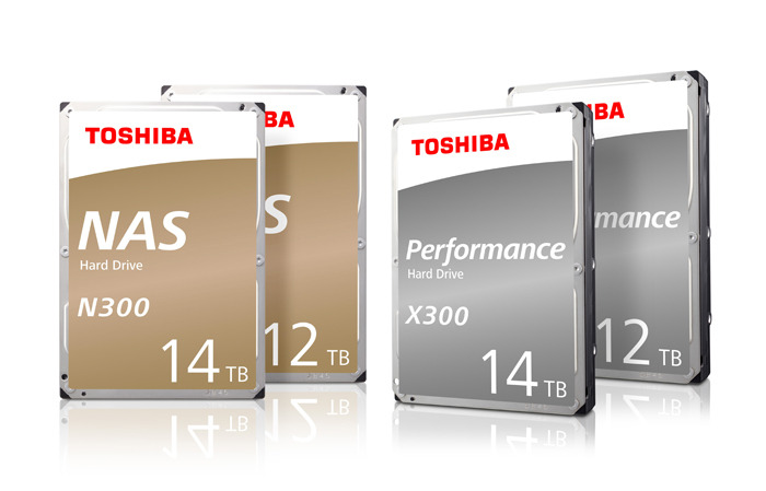 Toshiba Adds New 12TB/14TB Helium-Sealed Models to Both the