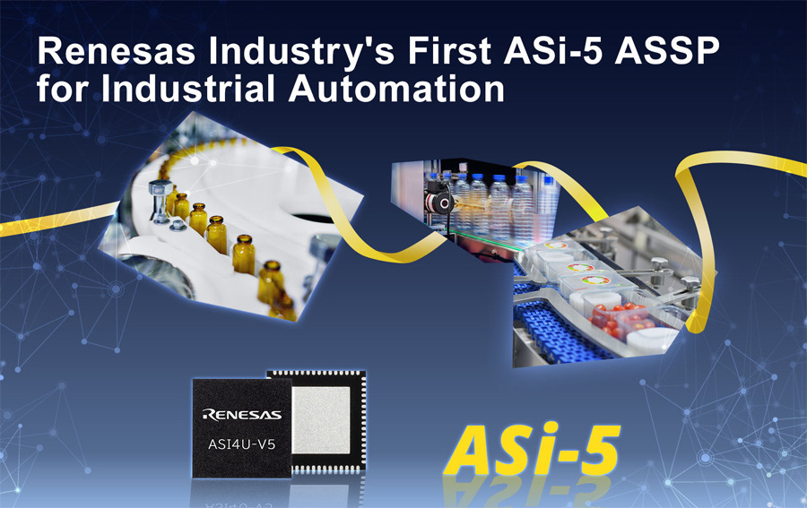 Renesas Electronics Introduces Industry's First ASi-5 ASSP