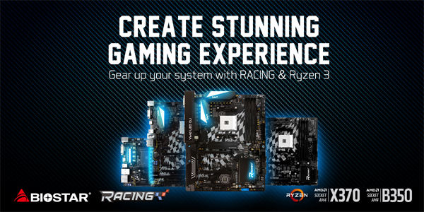 BIOSTAR Launches Low Cost Gaming Systems with BIOSTAR RACING